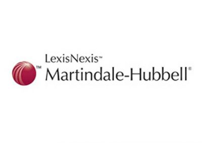 Martindale-Hubbell offers solutions for both the professional and consumer markets. Their online destinations contain the profiles of more than one million lawyers and businesses in the United States, Canada and 160 other countries, serving as a resource tool and fundamental legal commercialization.