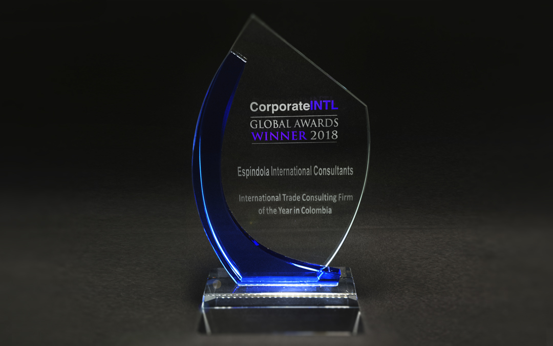 "Espindola International Consultants is awarded again as the ""International Trade Consulting Firm of the Year in Colombia"""
